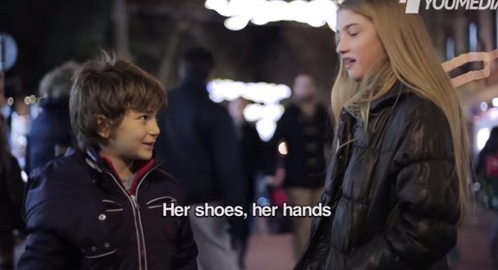 "Children's reactions ""Slap her"""