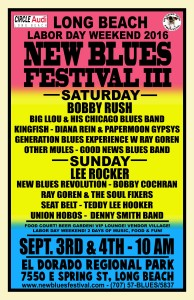 The New Blues Festival III is going down this Labor Day weekend, September 3rd & 4th 2016 at El Dorado Park in Long Beach, CA.